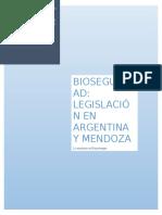 Bioseguridad Legislacion en Argentina y Mendoza