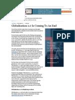 Globalization paraphrasing