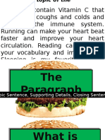 The Paragraph - Topic Sentence