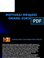 Motivasi Menjadi Orang Sukses