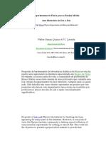 Experimentos de F+¡sica para o Ensino M+®dio