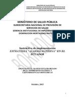 Estrategia Alarma Materna_Score MAMA y Codigos- 08-10-2015