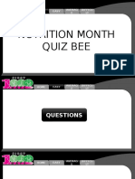 Nutrition Month Quiz