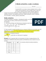 Medidas de Tendencia Central y Medidas de Dispersic2a6n Materetonet 503 Refuerzo Paes 2016