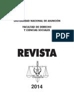 Revista 2014, Facultultad de Derecho UNIVERSIDAD NACIONAL DE ASUNCION