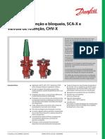Verifique e Parar de Válvulas, SCA-X e Válvulas de Retenção, CHV-X DKRCI.pd.FL1.A5.28_SCA-X_CHV-X