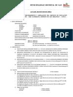 Acta de Recpecion de Obra Chachimayo