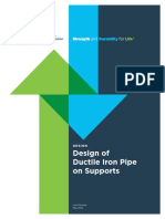 Design DuctileIronPipeonSupports