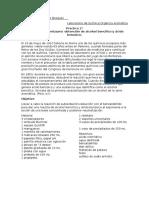 Practica 2 Reacccion de Cannizzaro,Aka, Obtención de Alcohol Bencílico y Ácido Benzoico.