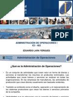 U1 - Principios de Administracion de Operaciones