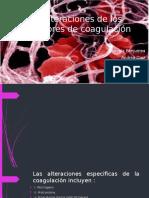 Alteraciones de Los Factores de Coagulación