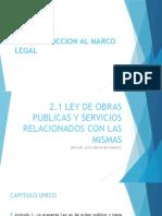 2.1 Ley de Obras Publicas