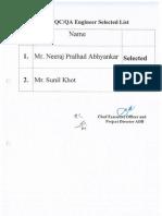 ADB Selection List