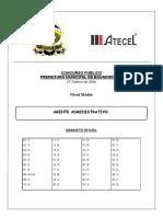Agente Administrativo - Equador - Gabarito Oficial