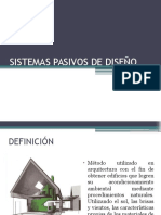 Sistemas Pasivos de Diseño