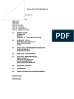 Action Research Report Format 27 June 2016