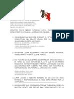 Conduccion de Honores GTZ DIA de LA BANDERA
