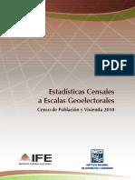 Metodologia Escalas Geoelectorales INEGI IFE 2012