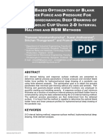 FEA BASED OPTIMIZATION OF BLANK HOLDER FORCE AND PRESSURE FOR HYDROMECHANICAL DEEP DRAWING