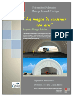 dDiseño de hangar inflable