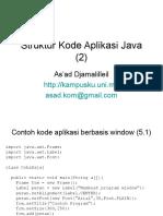 Materi 5 Struktur Kode Aplikasi Java (2)