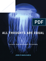 John o Maoilearca All Thoughts Are Equal Laruelle and Nonhuman Philosophy