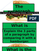The Paragraph - Supporting Details, Closing Sentence