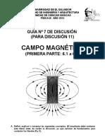 Discusión 7. Campo Magnético