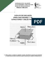 PROBLEMAS Disc. Nº 5. Capacitores y Dieléctricos
