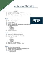 Draft Kursus Internet Marketing