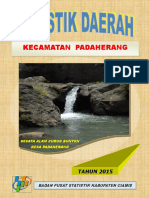 Statistik Daerah Kecamatan Padaherang Tahun 2015