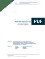 Mem. de Calculo - Estructuras (Centro Salud)