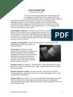 Acute Dental Pain
