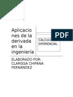 aplicaciones de la derivara en ing industrial