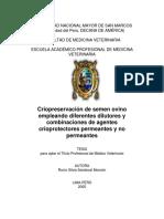 Criopreservación de Semen Ovino