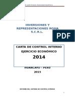 5.- Memorandum de Control Interno