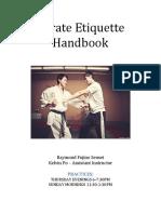 karate etiquette handbook
