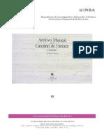 Catálogo Archivo Musical Oaxaca