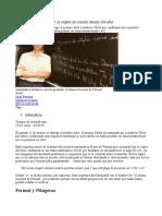 El Último Teorema de Fermat; Un Enigma Sin Solución Durante 358 Años