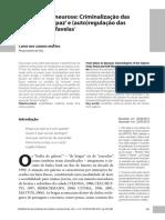 11ª Aula- MATTOS, Carla- Da Valentia à Neurose- Criminalização das Galeras Funk, 'paz' e (auto)regulação das condutas nas favelas.pdf