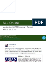 Sll April 28, 2016 Summary Report
