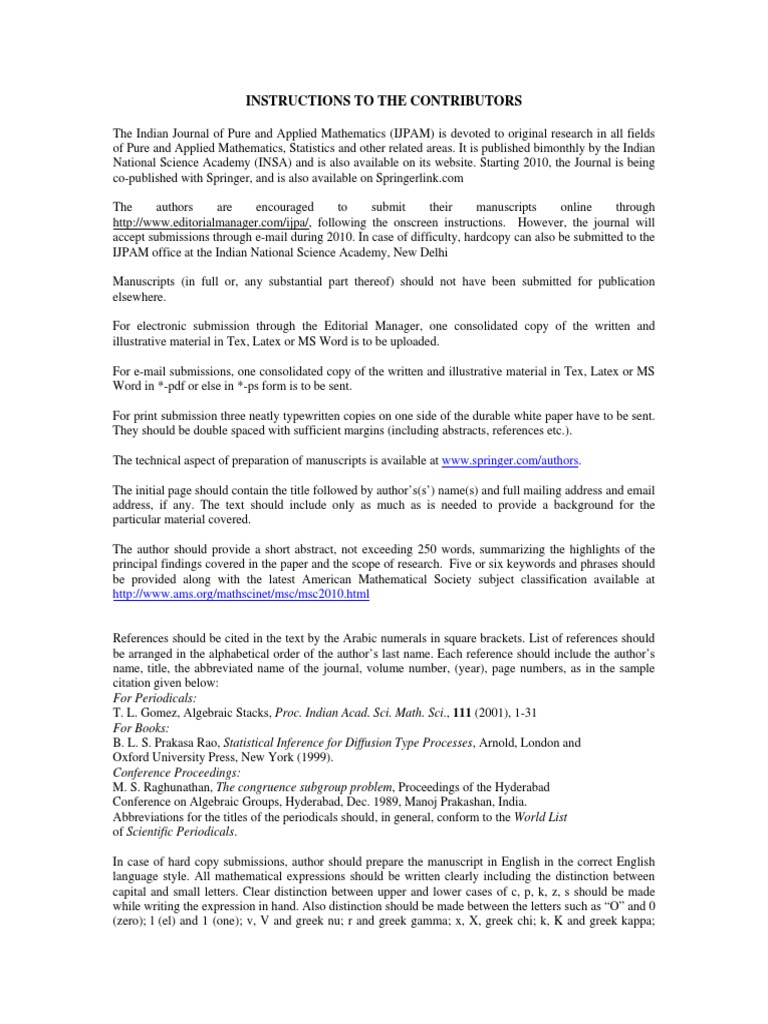 Instructions for Authors   Greek Alphabet   Physics & Mathematics