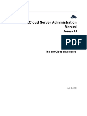 OwnCloud Server Administration Manual | My Sql | Linux