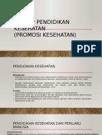 Prinsip Pendidikan Kesehatan (Pdk)