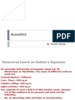 Sabine Formula Numerical