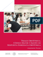 Triage Obstetric o Cm