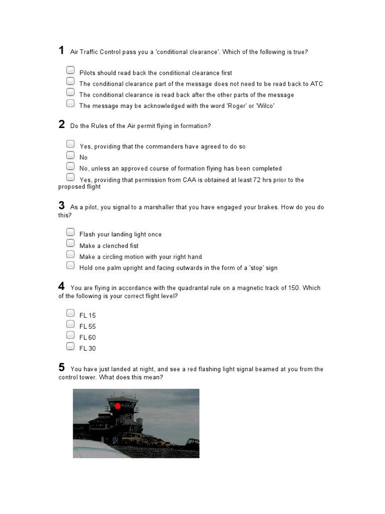 Air_Law_40_Q | Visual Flight Rules | Air Traffic Control