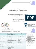 Keynesian Economics Vorlesung