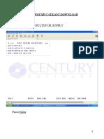 Catalog Download Procedure