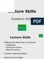 Lecture Skills Presentation